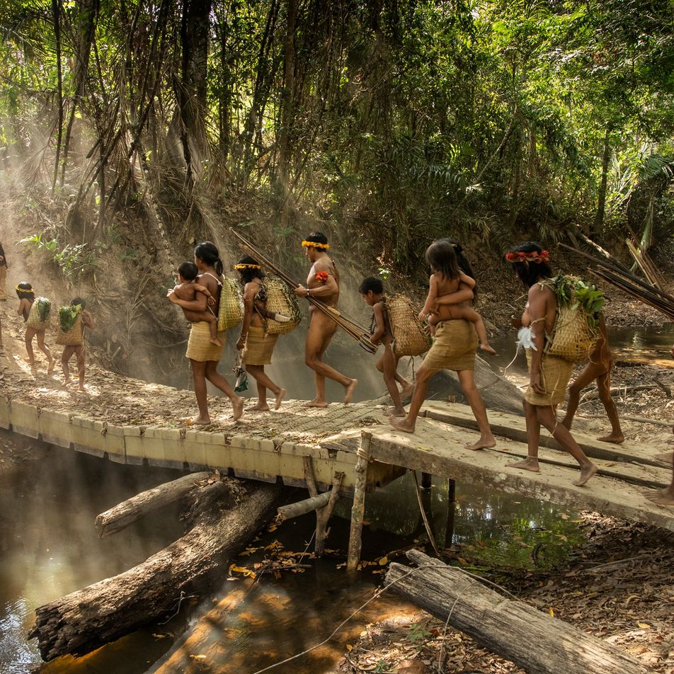 Extraordinary images of life within an isolated tribe in the Amazon