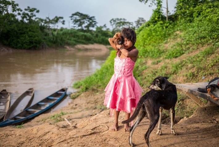 Miluska Jimena Sánchez Canayo, lives in Victoria II but came upstream to the larger town of ...