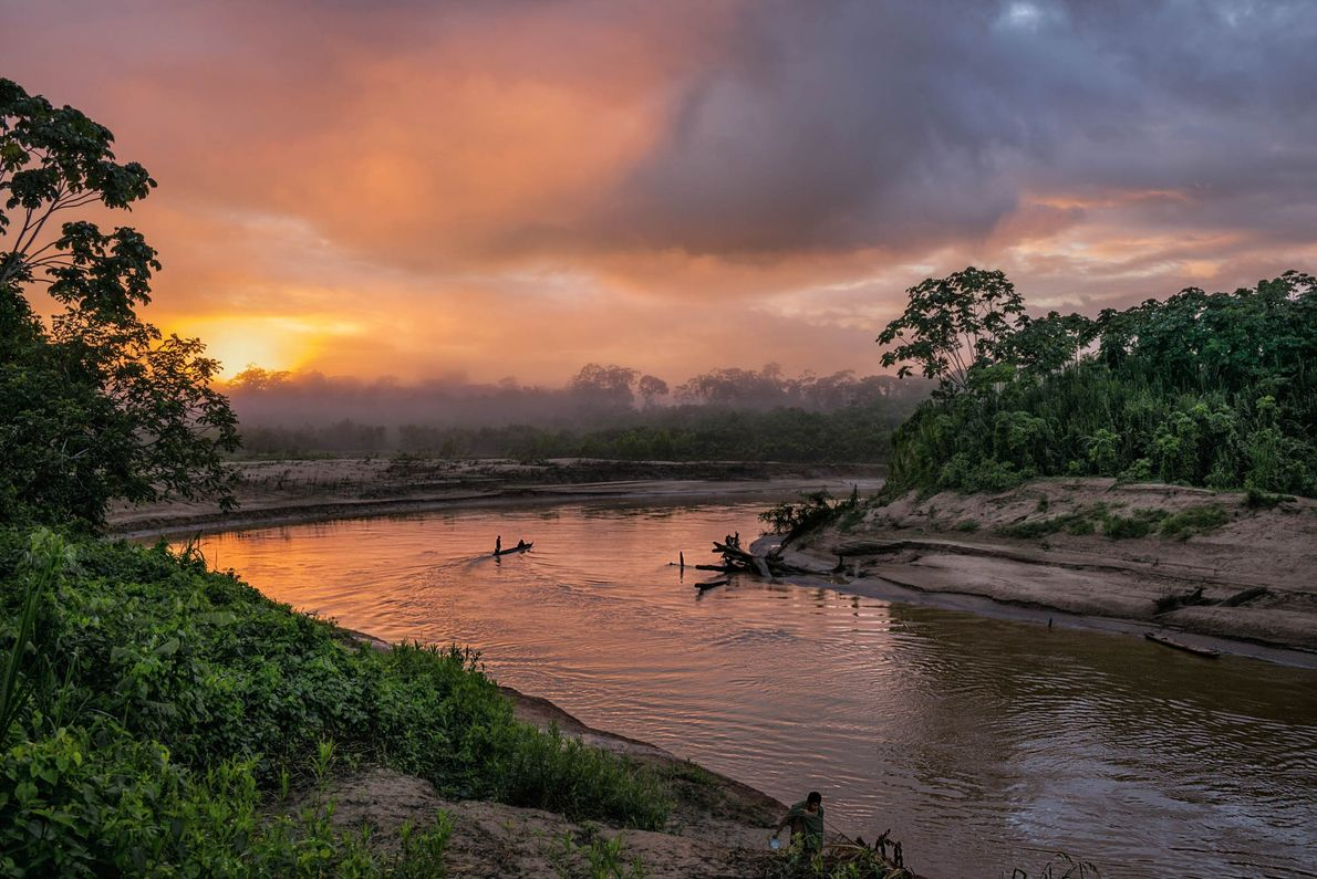 The Yurúa River meanders near the Peru-Brazil border. Illicit logging in the area's protected forests feeds ...