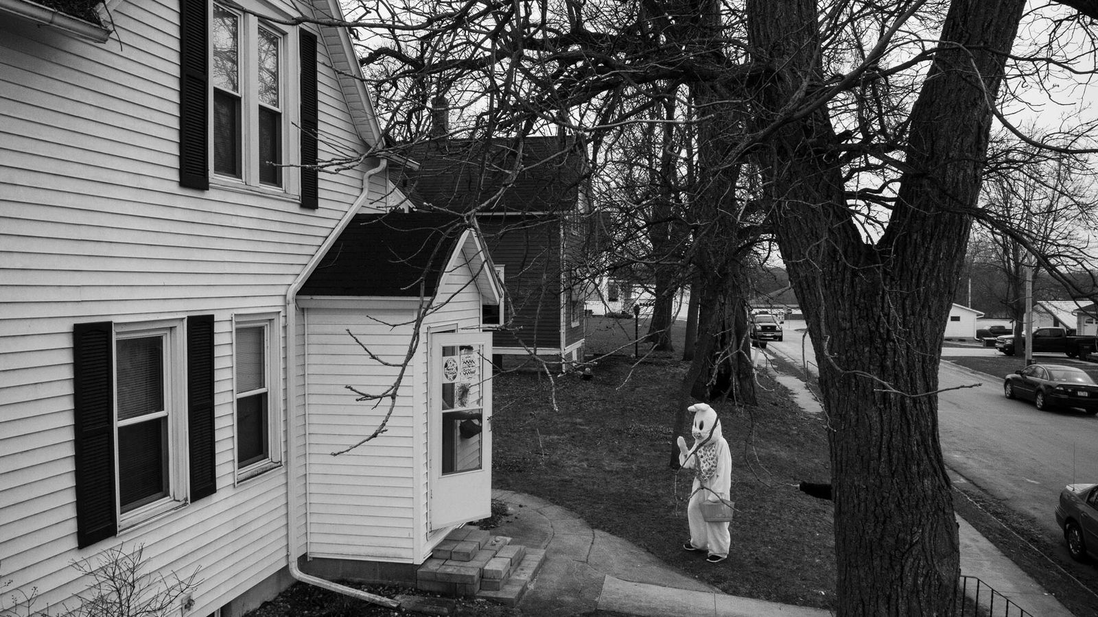 While David Guttenfelder was driving through Lake Mills, Iowa, he saw someone dressed as the Easter ...