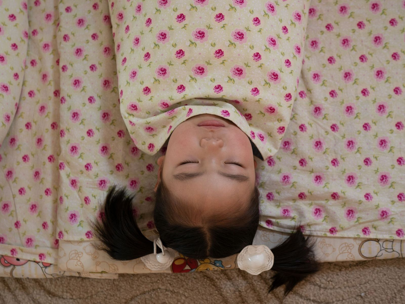 A swaddled child sleeps in Ulaanbaatar, Mongolia.
