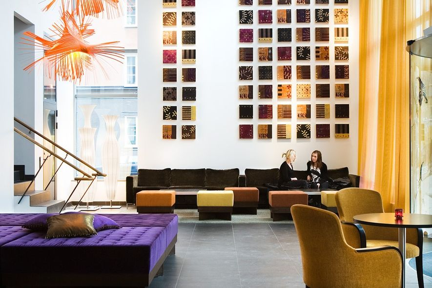 The lobby at Best Western Time Hotel, Stockholm