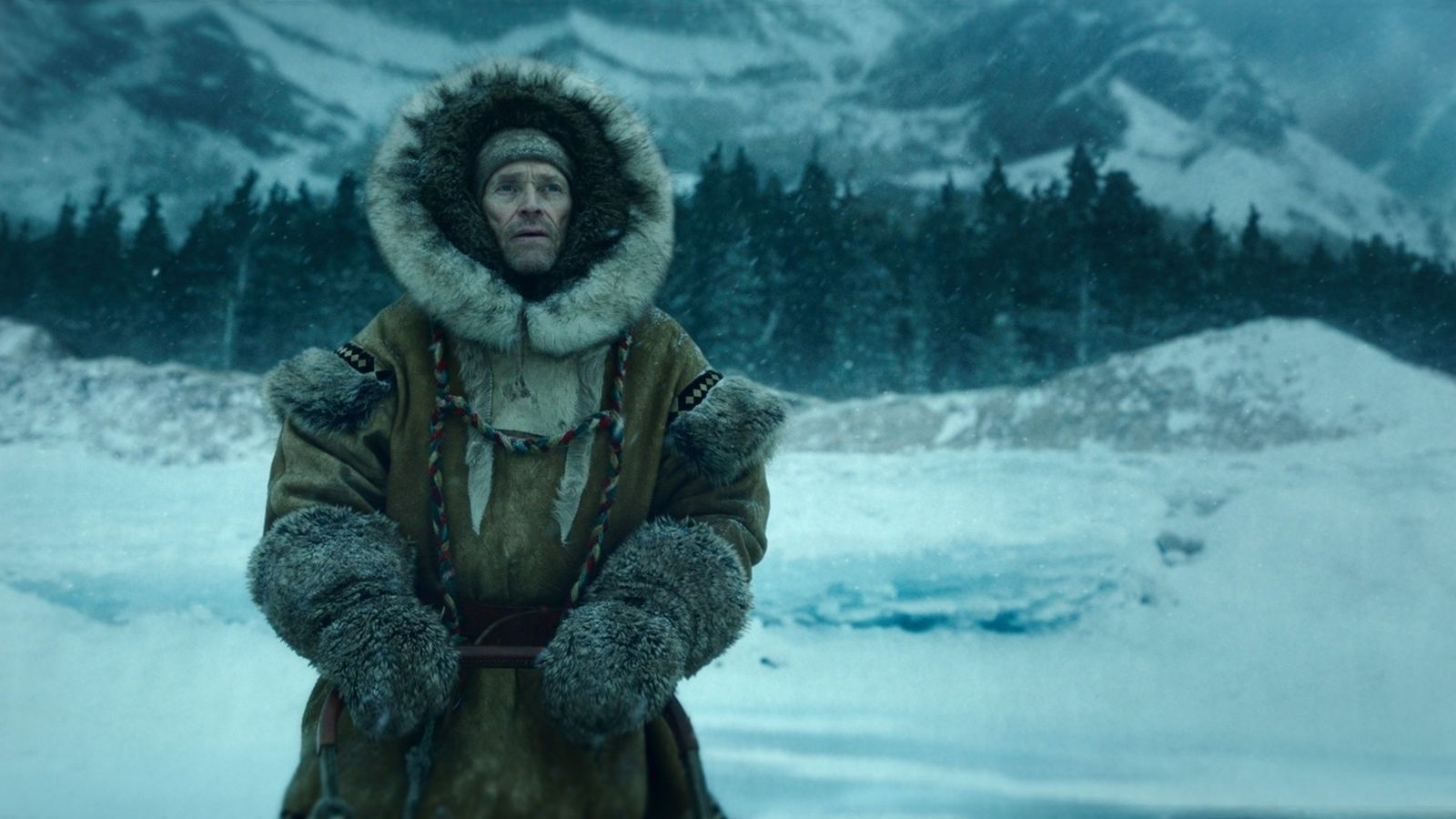 """""""It really takes a tough character.""""Willem Dafoe as Leonhard Seppala in Togo."""