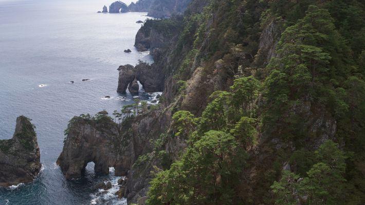 The new long-distance Michinoku Coastal Trail.