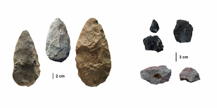 For some 700,000 years, ancient humans in the Olorgesailie region used large tools made from local ...