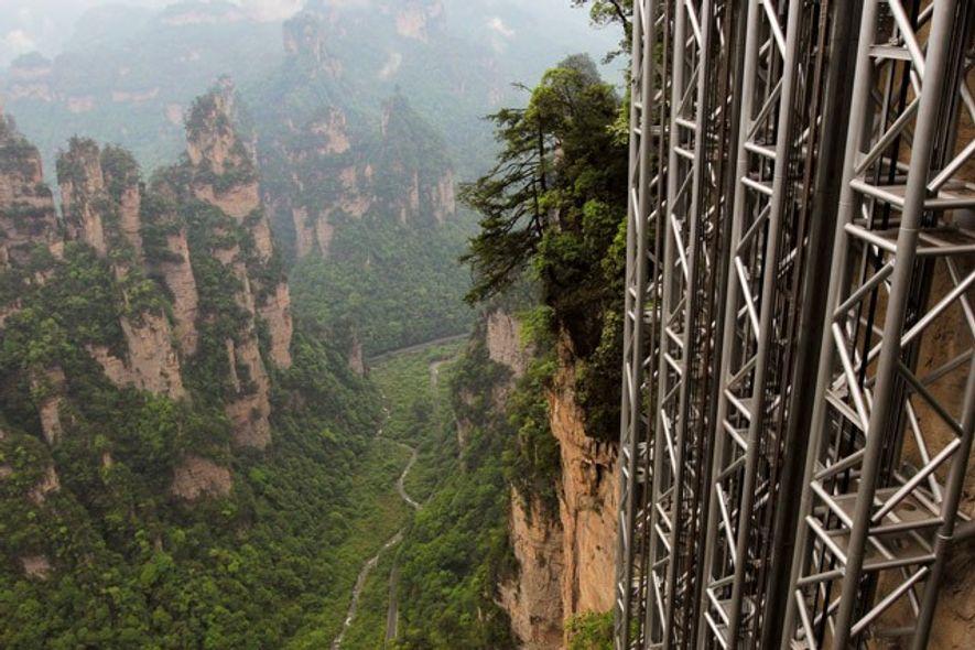Bailong elevator, China. Image: Corbis