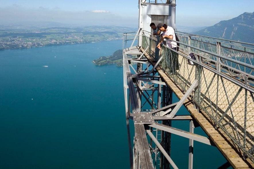 Hammetschwand Lift elevator, Switzerland. Image: Getty