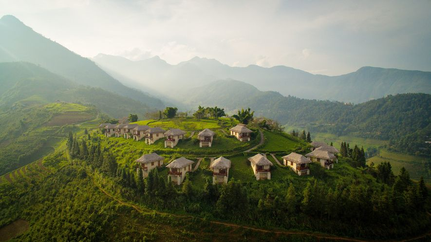North of Hanoi, Vietnam, Topas Ecolodge organises treks into Hoang Lien National Park, a global biodiversity ...