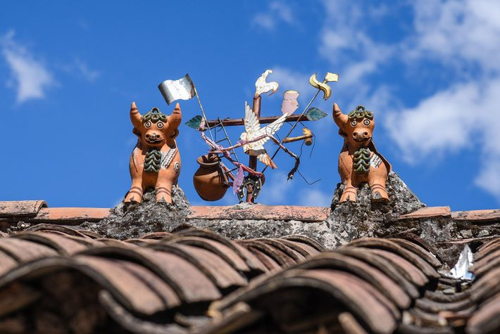 In rural Peru, clay toritos de pucará represent the balance of good and bad in the ...