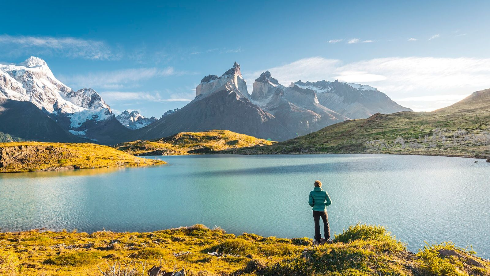 Torres del Paine National Park, in Chile's Patagonia region, is renowned for its jutting peaks, gigantic icebergs ...