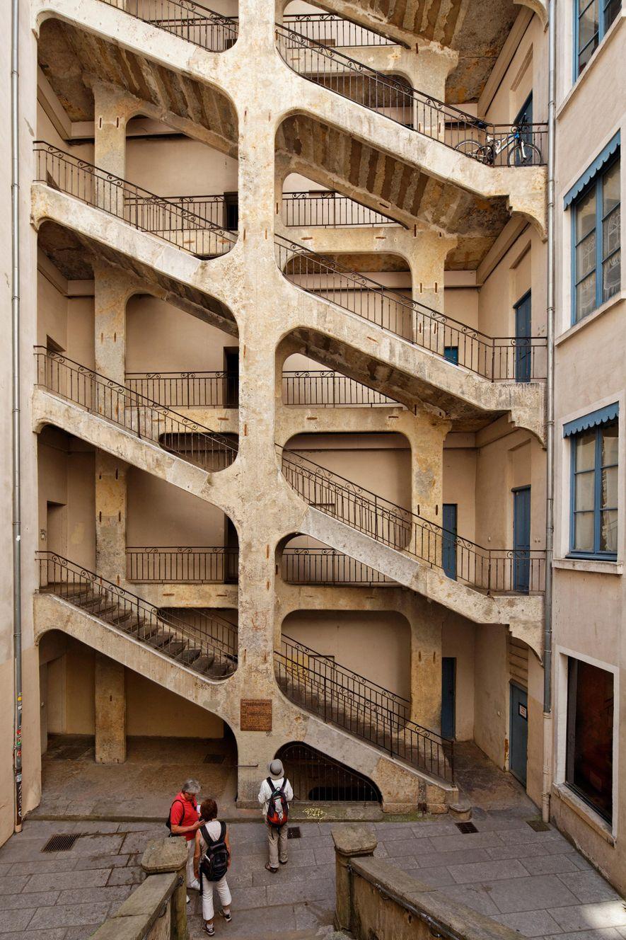 The Traboule de la Cour des Voraces, located in the Croix-Rousse, was one of the landmark ...
