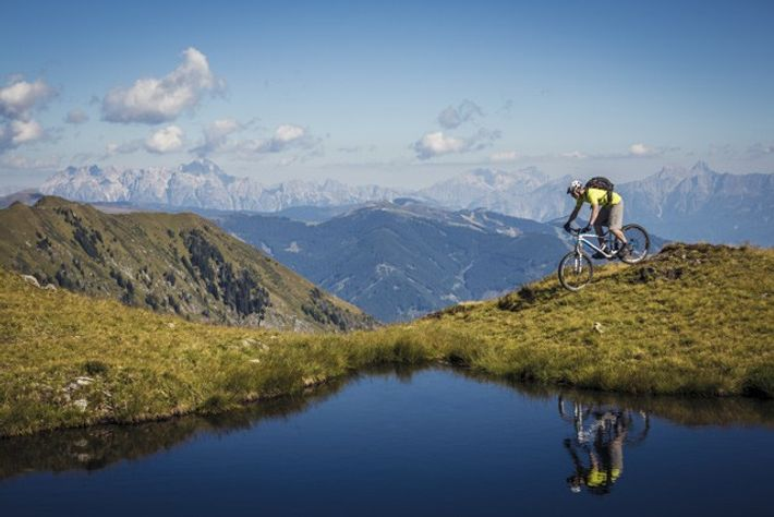 Biking at Kitzsteinhorn