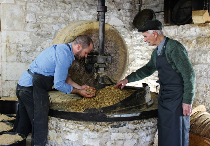 Operating the family-run walnut mill, Moulin Castagne.