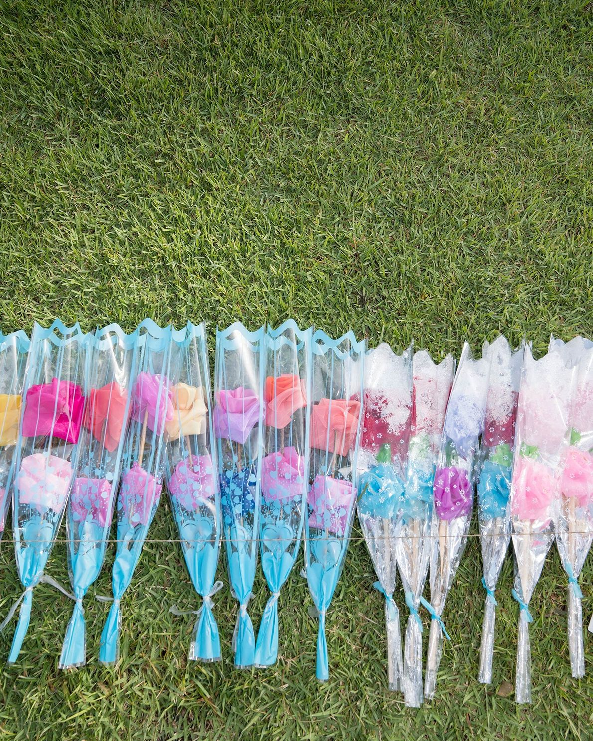 Pastel flowers line the grass at Mangyongdae Native House, the birthplace of Kim Il Sung just ...