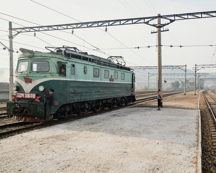 The North Korean railway still utilises old Soviet trains from the mid-20th century.