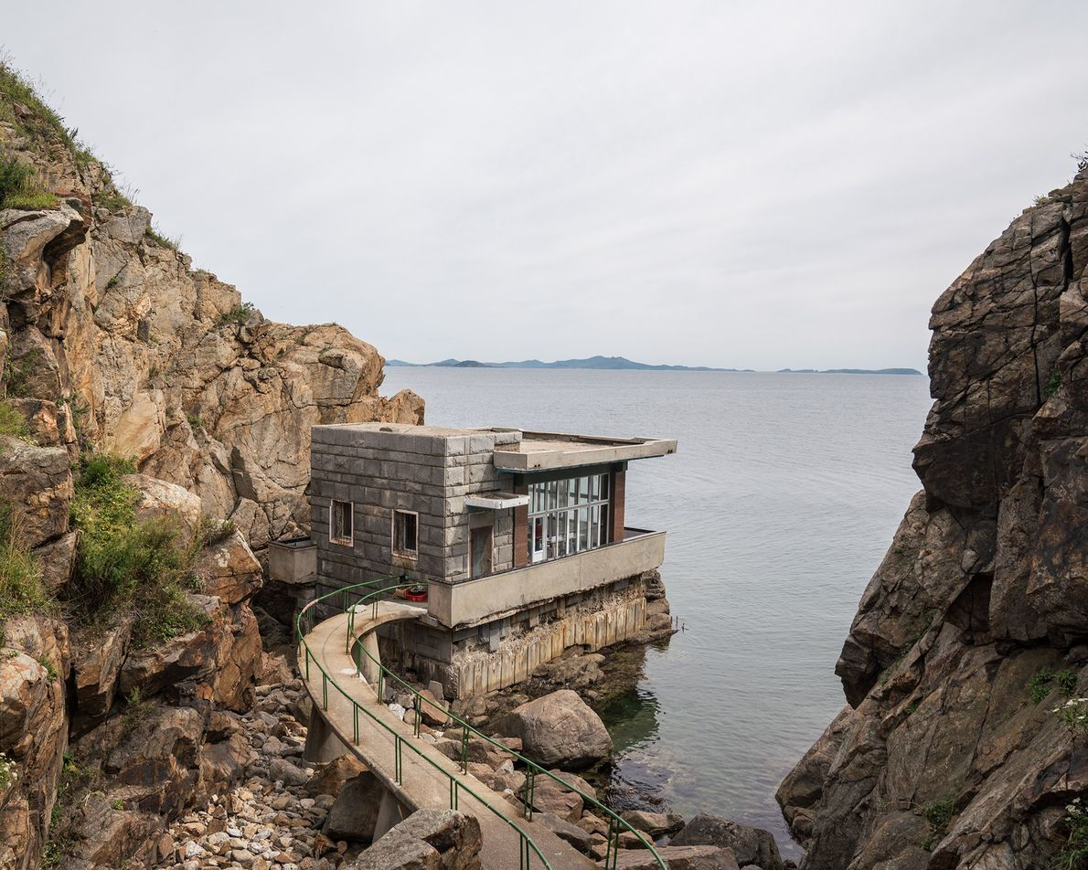 A scenic viewing point on Pipha Island overlooks the Sea of Japan.