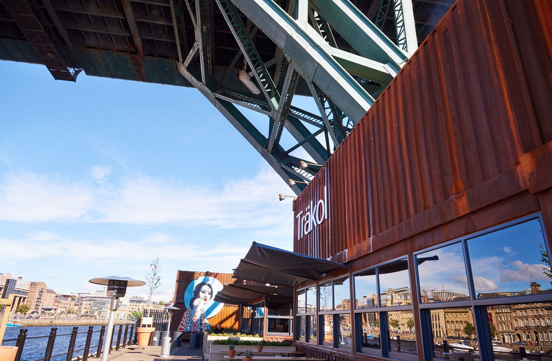 Housed in shipping containers overlooking the River Tyne, Träkol is a new hipster favourite.