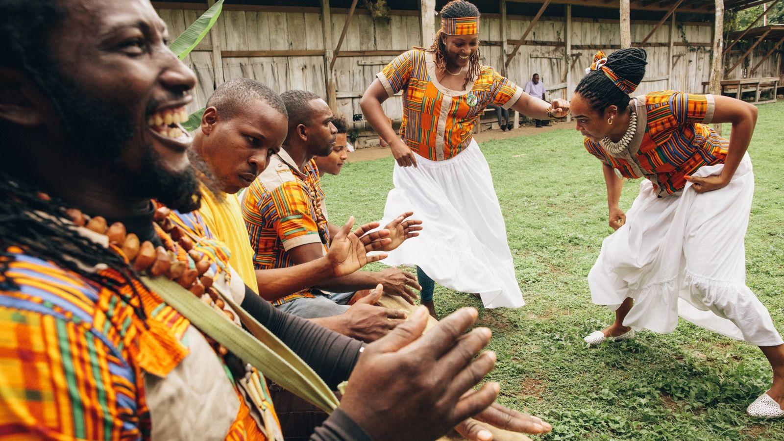 Dancing in the Asafu Culture Yard