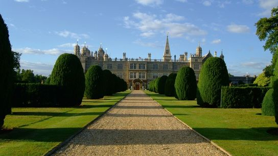 Burghley House in Lincolnshire.
