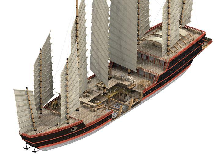 Treasure ships were the largest vessels in Zheng He's fleet. A description of them appears in ...