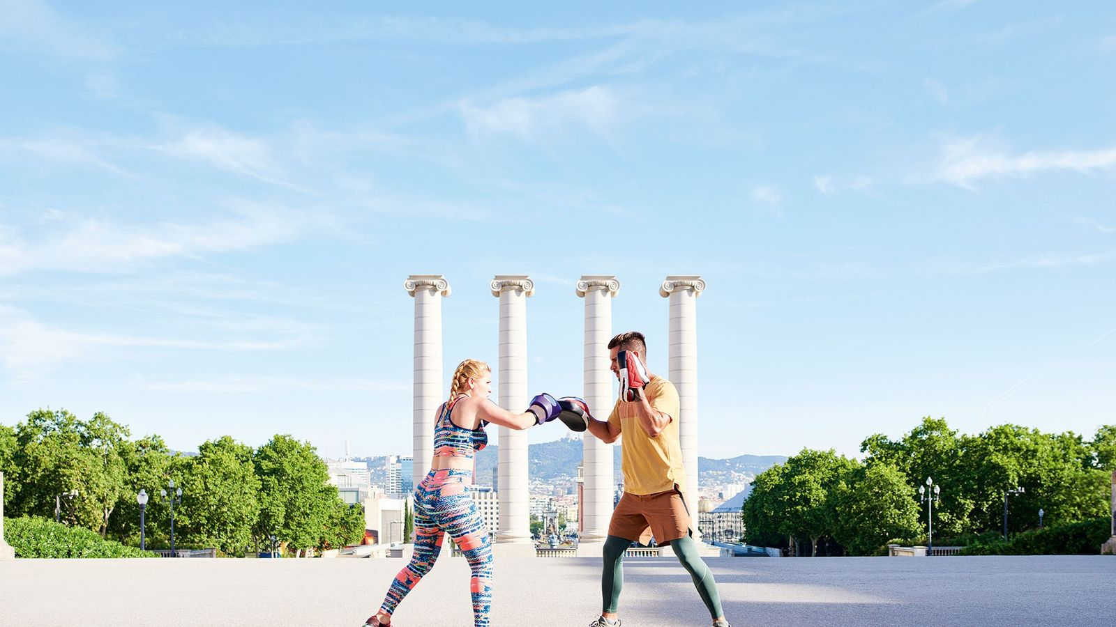 Opportunities to exercise outdoors are wide and varied in Barcelona, and boxing is proving to be ...