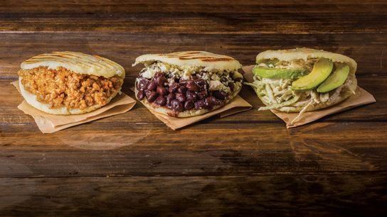 Selection of arepas
