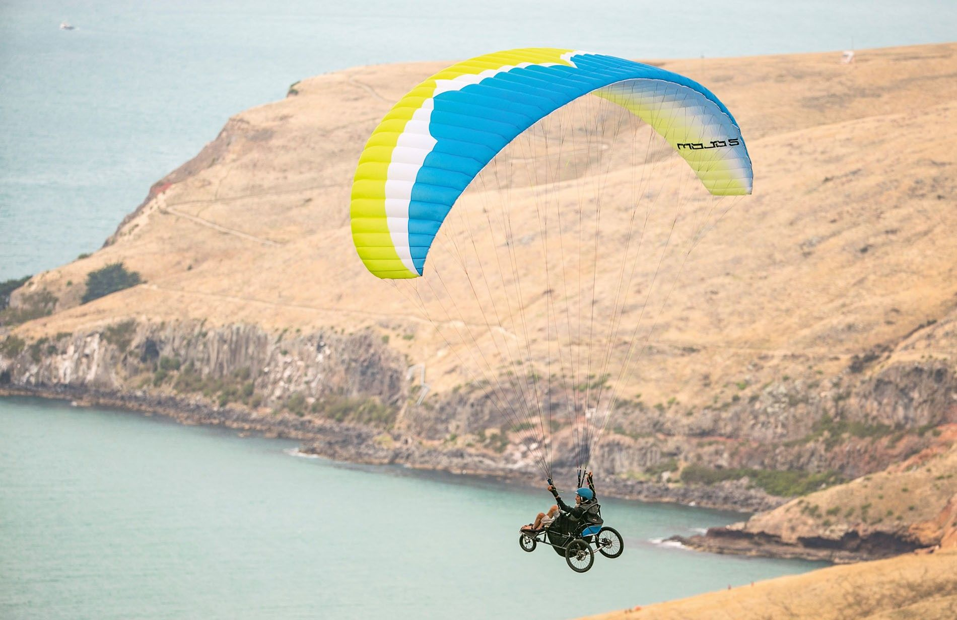 Wheelchair paragliding