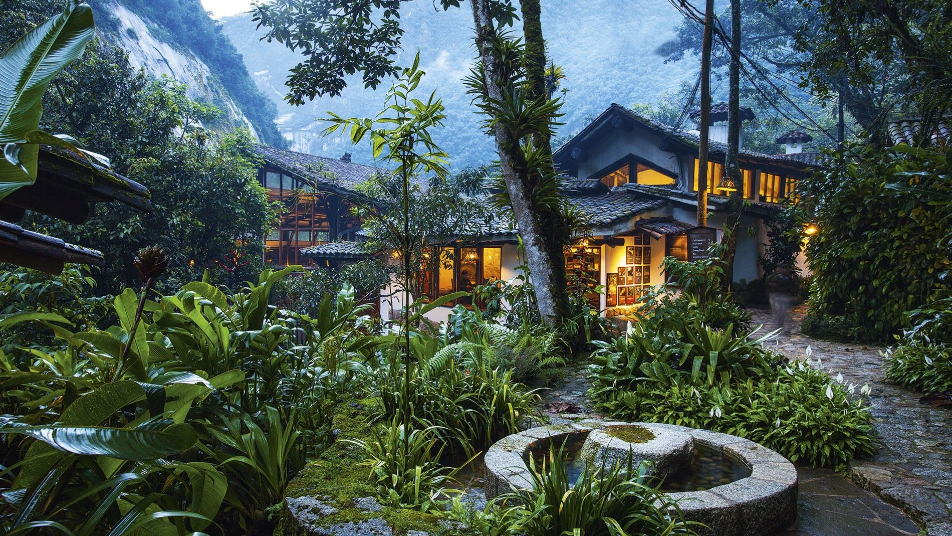 Inkaterra Machu Picchu Pueblo Hotel, Peru. In April, the hotel donated an organic waste treatment plant to the city in which it sits to turn organic waste into fertiliser used to aid reforesting the Andean Cloud Forest and Machu Picchu.