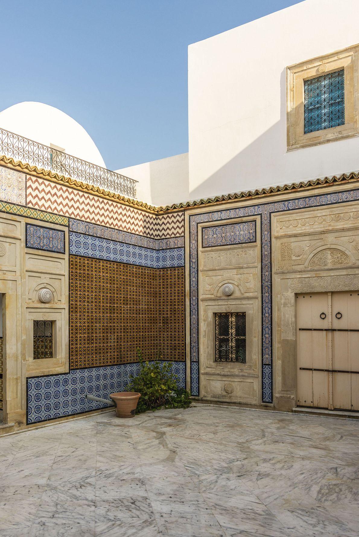 Courtyard at Rafik's home.