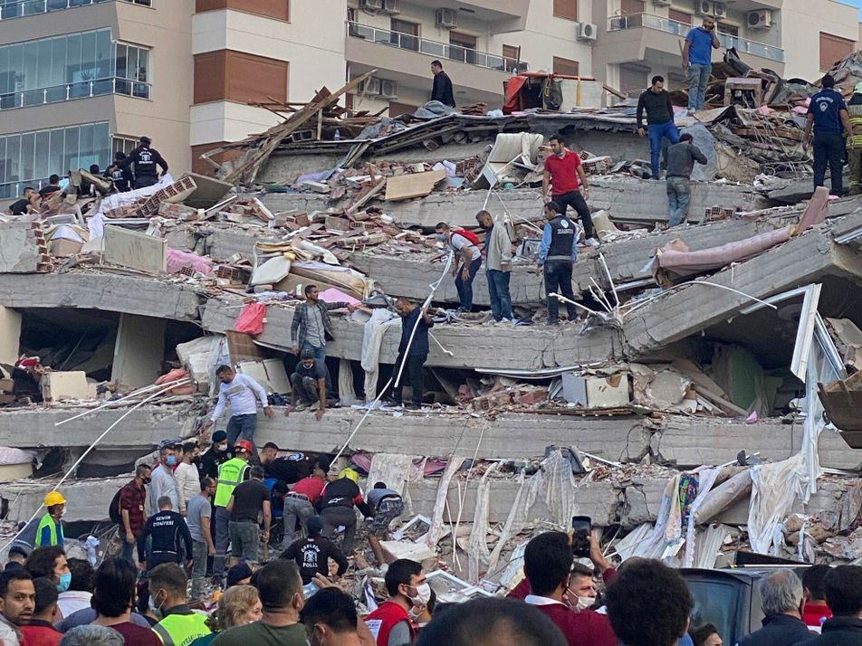 Greece and Turkey earthquake driven by wild tectonics of the Aegean Sea