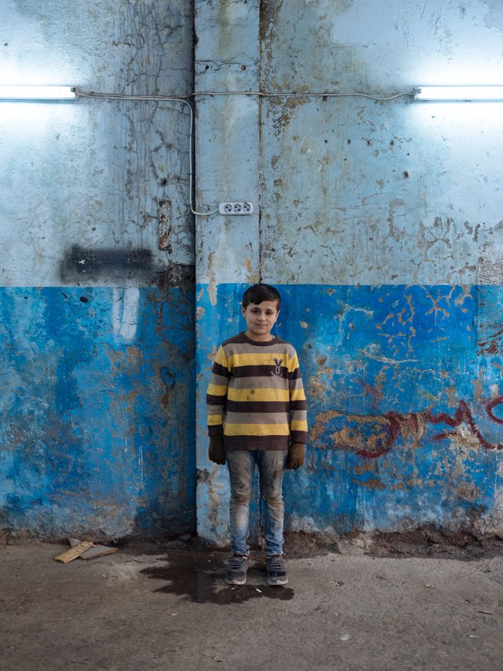 Mahmoud looks years younger than his age. His mother believes his growth was stunted by years ...