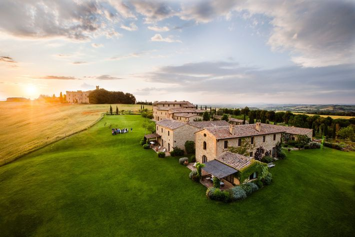 The Borgo Finocchieto is a village turned luxe lodging in Buonconvento.