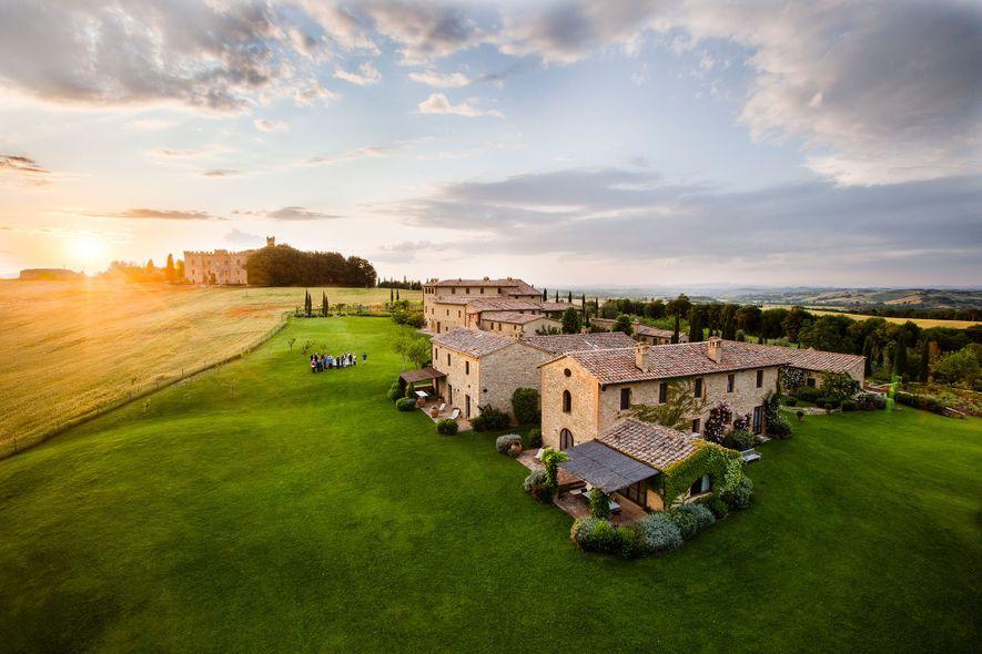 The Borgo Finocchieto is a village turned luxe lodging in Buonconvento.