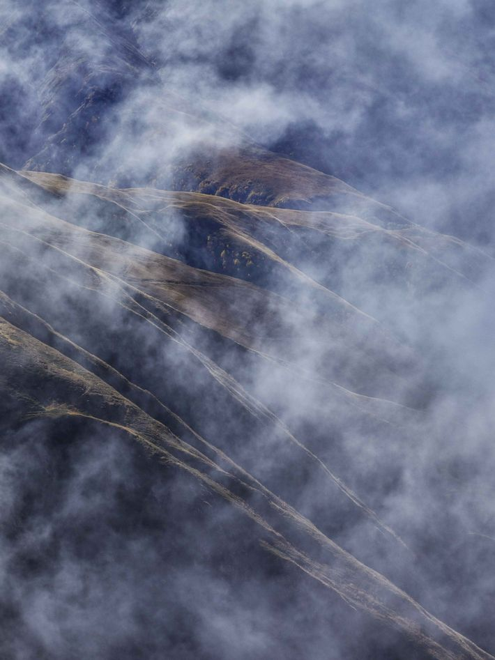 Wispy clouds cloak the Caucasus in Tusheti, known as having one of the most dangerous mountain ...