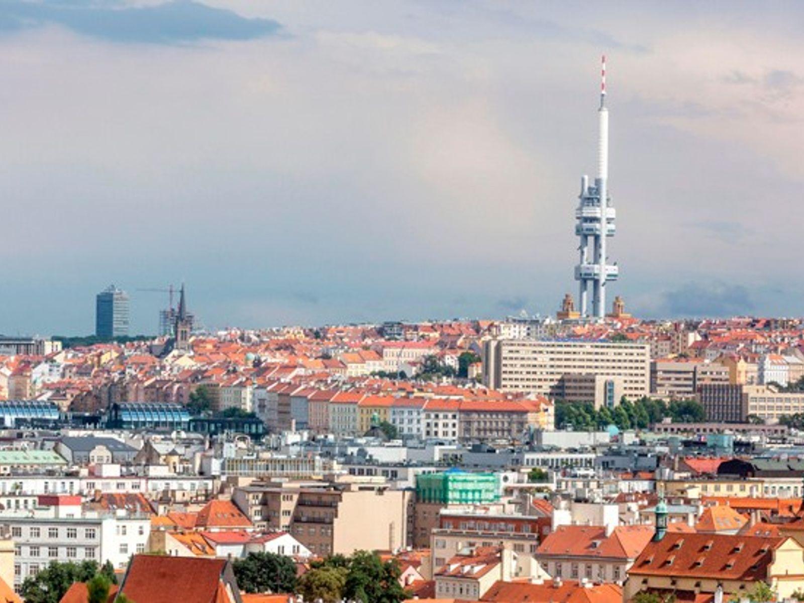 Prague skyline.