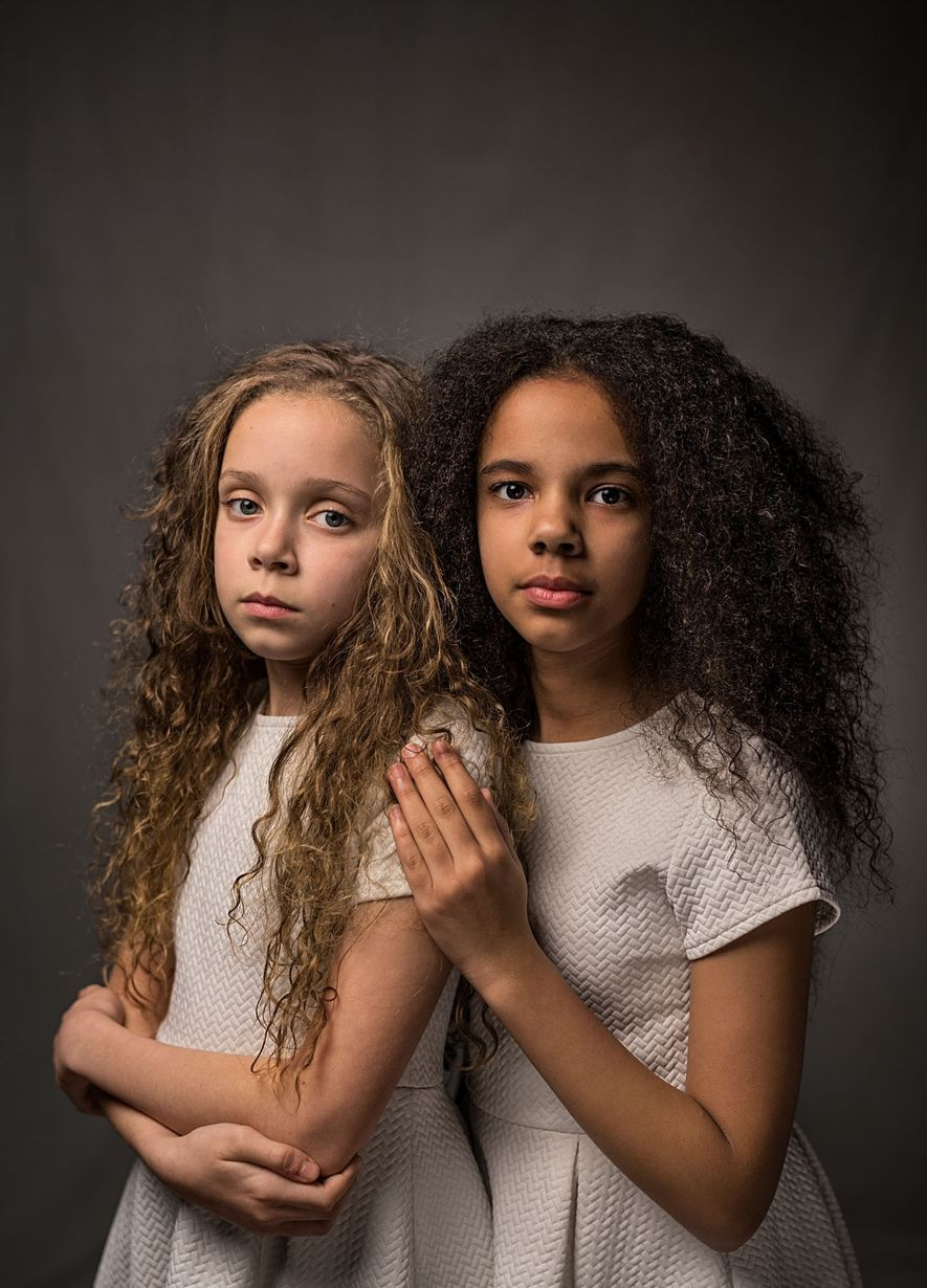 Marcia (left) and Millie Biggs, both 11, say people are shocked to learn that they're fraternal ...
