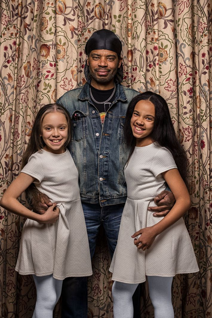 "Michael Biggs sees a clear family resemblance in his twin daughters, Marcia (left) and Millie: ""They ..."
