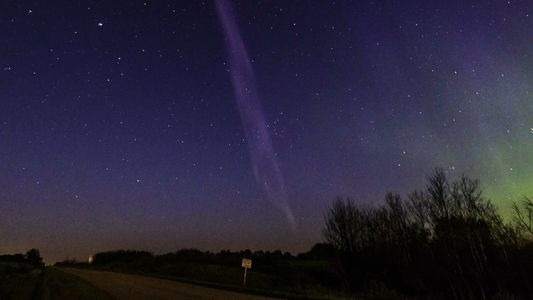 Purple Streak Named 'Steve' Is a Whole New Type of Aurora