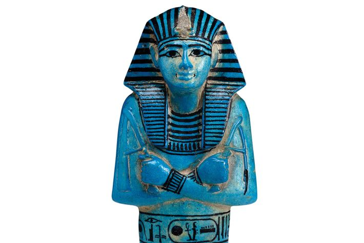 Ushabti from the tomb of Seti I. The figurine works for the dead in the afterlife.