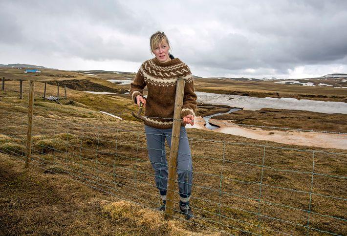 Heida Ásgeirsdottír used to be a model, but cut her career short to become a sheep farmer.