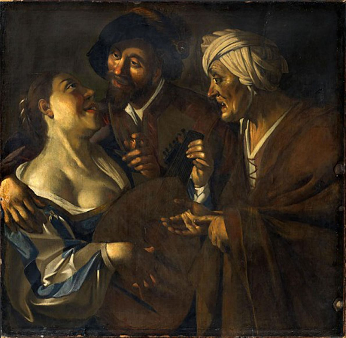 'The Procuress,' believed to be a forgery by Han van Meegeren, is one of the famous ...