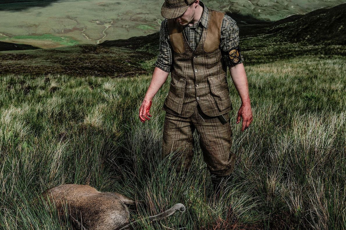 Scott Mateson, 25, is a gamekeeper on the island of South Uist.