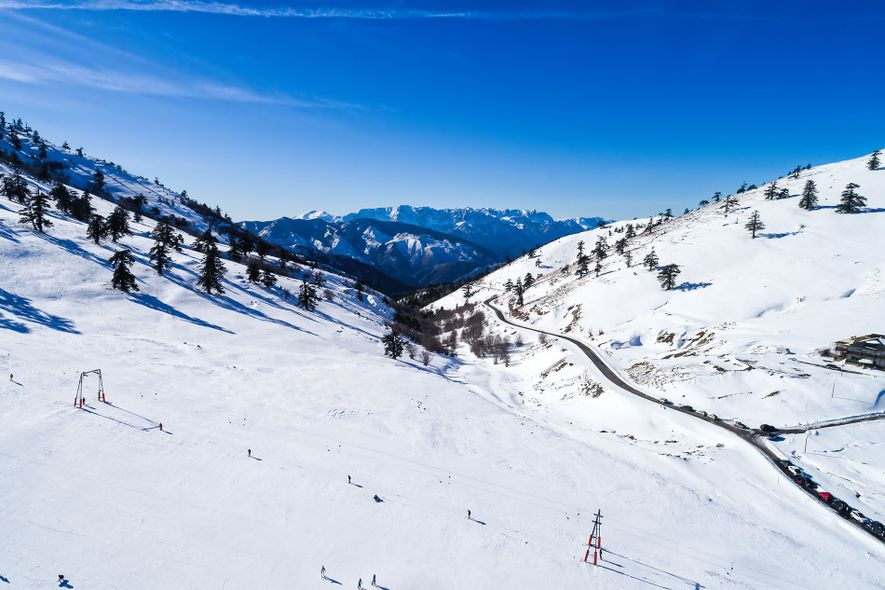 Many of Greece's ski resorts sit at high altitudes, with reliable snow from January through to ...