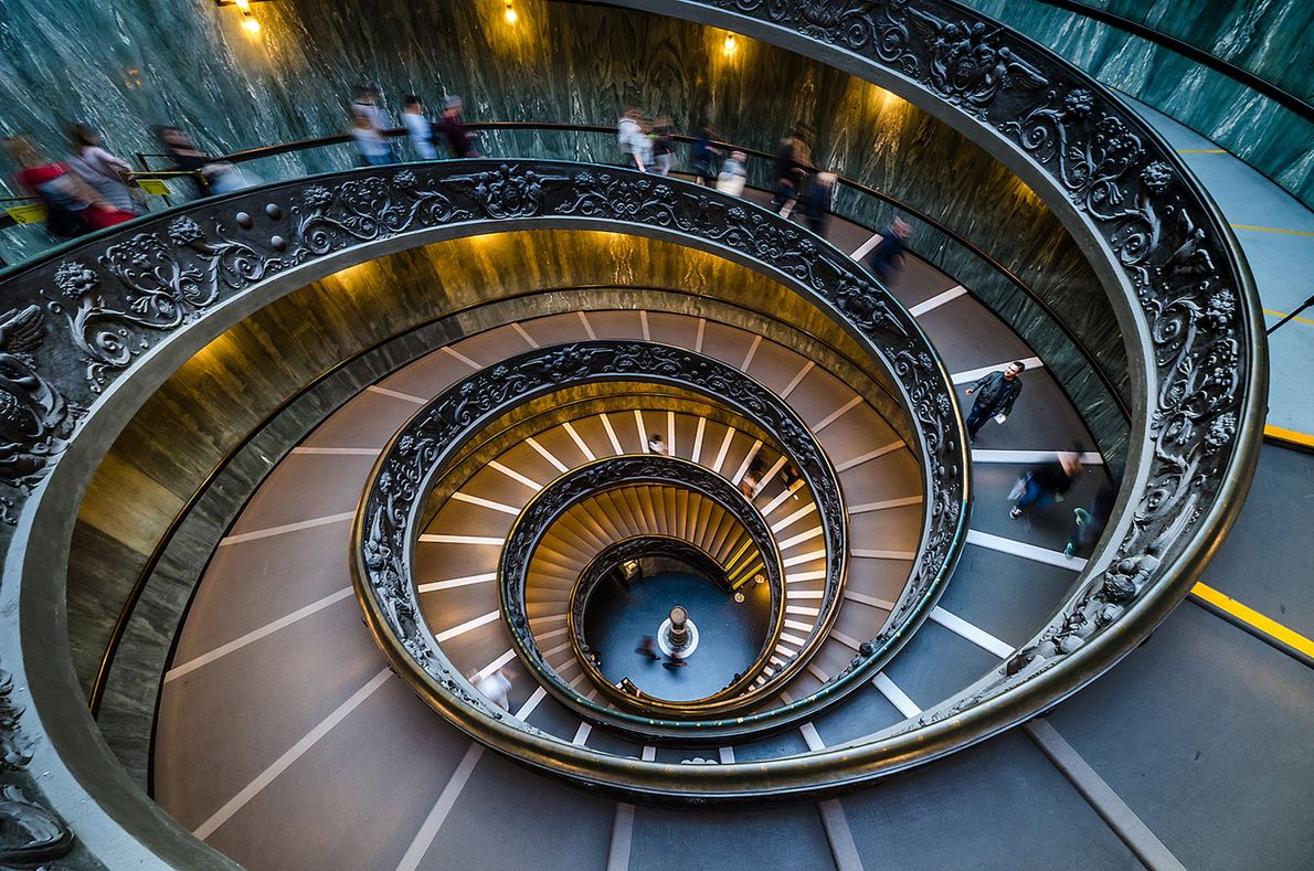 When you walk out of the Vatican Museums, you can walk through the spectacular and monumental ...