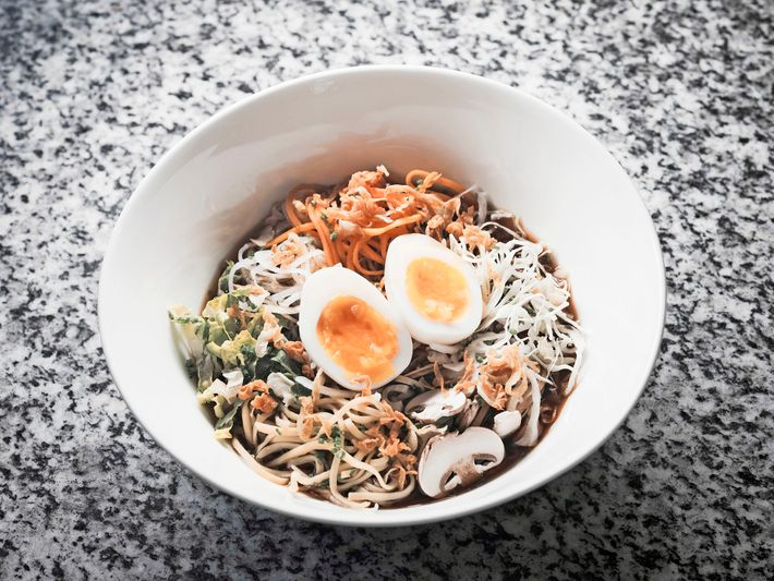 The Omnia's head chef gives a classic ramen dish an Alpine twist, with a handful of ...