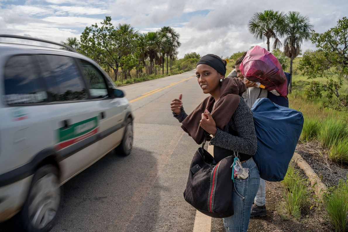 Eunice Henríquez and Jesús Gómez flee Venezuela because of the country's collapse. They stayed in Pacaraima ...
