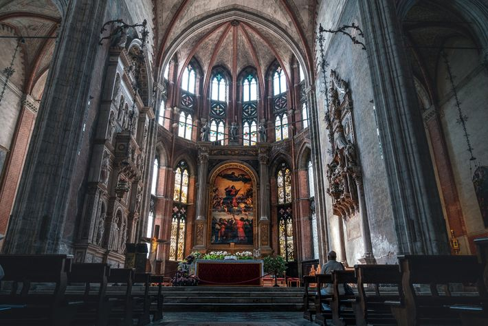 The Basilica di Santa Maria Gloriosa dei Frari is home to stunning altars, paintings, and a ...