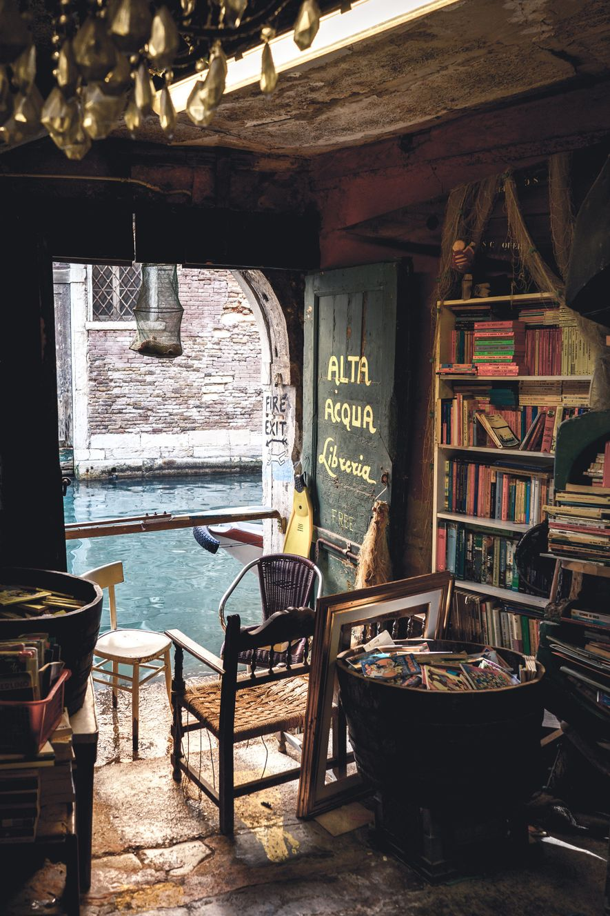 Take the time to explore the Libreria Acqua Alta, or High Water Library, and the many ...