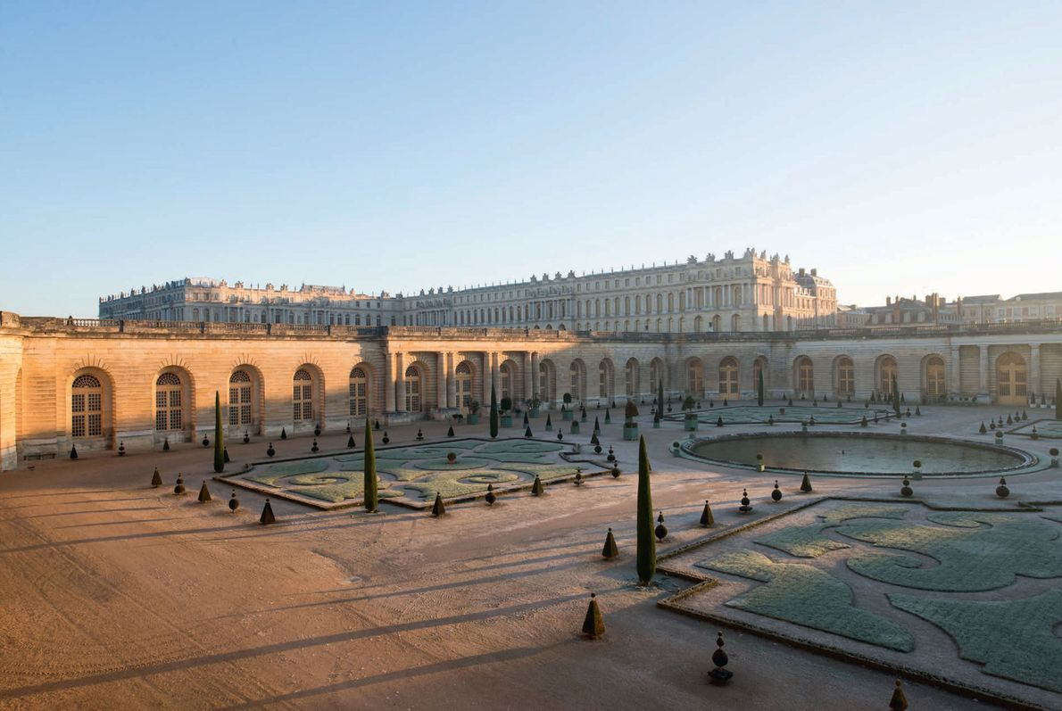 Thousands of orange, lemon, and pomegranate trees at Versailles—some more than 200 years old—are sheltered in ...
