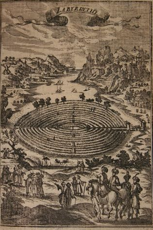 The minotaur's labyrinth, as imagined in 1683. While history's most famous maze, this mythological puzzle is ...